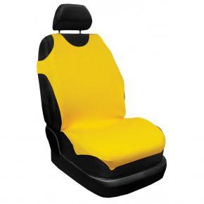 T-shirt coche 100% algodón, amarillo, delanteras 2 uds, 16A