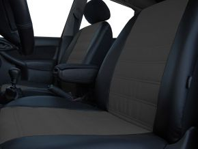 Fundas de asiento a medida Piel con impresión RENAULT CLIO