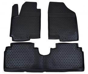 Alfombrillas de goma KIA Venga /Hyundai ix20  2010-up 3 piezas
