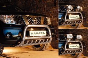 Bullbar delanteros Steeler para Nissan Navara 2010-2015 Modelo G