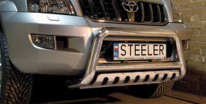 Bullbar delanteros Steeler para Toyota Land Cruiser 120 2003-2009 Modelo S