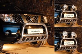 Bullbar delanteros Steeler para Nissan Pathfinder 2005-2010 Modelo G