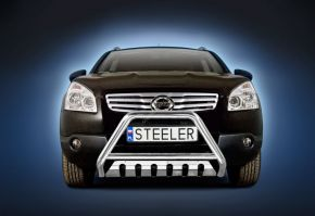 Bullbar delanteros Steeler para Nissan Qashqai 2007-2010 Modelo S