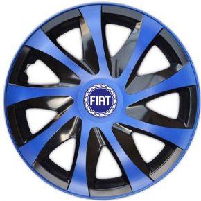 "Tapacubos para FIAT BLUE 14"", DRACO AZUL 4 pzs"