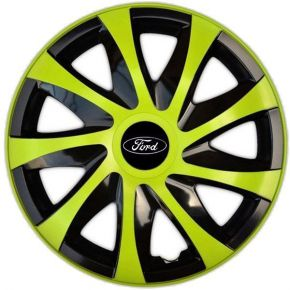 "Tapacubos para FORD 14"", DRACO VERDE 4 pzs"