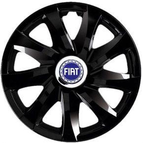 "Tapacubos para FIAT 13"", DRIFT NEGRO LACADO 4 pzs"