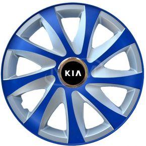 """Tapacubos para KIA 14"""", DRIFT EXTRA azul-plata  4pzs"""