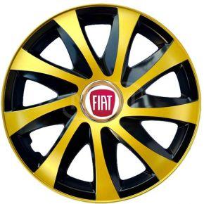"""Tapacubos para FIAT 15"""", DRIFT EXTRA oro 4pzs"""