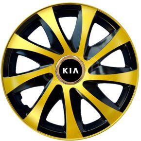 """Tapacubos para KIA 15"""", DRIFT EXTRA oro 4pzs"""