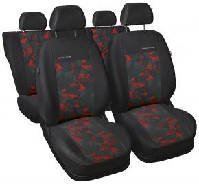 Fundas de asiento universales Elegance rojo