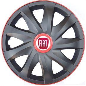 """Tapacubos para FIAT 15"""", KANDO RACE rojo 4pzs"""