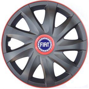 """Tapacubos para FIAT 14"""", KANDO RACE rojo 4pzs"""