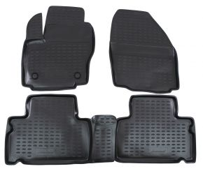 Alfombrillas de goma FORD FORD S-MAX 2006-up 4 piezas
