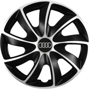 """Puklice pre Audi 14"""", Quad bicolor, 4 ks"""