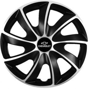 "Puklice pre Chevrolet 17"", Quad bicolor, 4 ks"