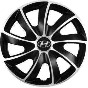 """Puklice pre Hyundai 14"""", Quad bicolor, 4 ks"""