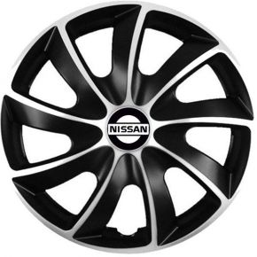"Puklice pre Nissan 17"", Quad bicolor, 4 ks"