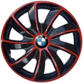 "Tapacubos para BMW 14"", QUAD BICOLOR ROJO 4 pzs"