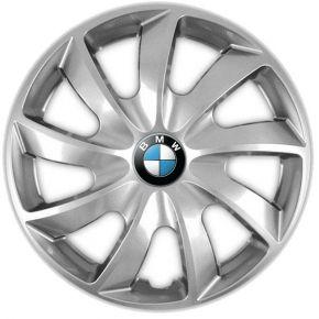 "Tapacubos para BMW 14"", QUAD GRIS 4 pzs"