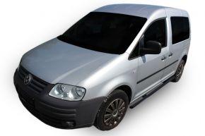 Marcos laterales de acero inoxidable para Volkswagen Caddy 2003-2015, 60,3 mm BLACK