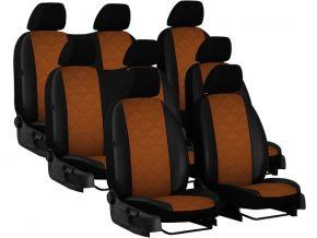 Fundas de asiento a medida Piel con impresión VOLKSWAGEN T5 8p. (2003-2015)