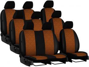 Fundas de asiento a medida Piel con impresión VOLKSWAGEN T6 9p. (2015→)