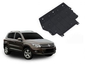 Protectores  de motor y caja de cambios Volkswagen Tiguan 2,0TSI; 2,0TDI 2008-2011; 2011-2016