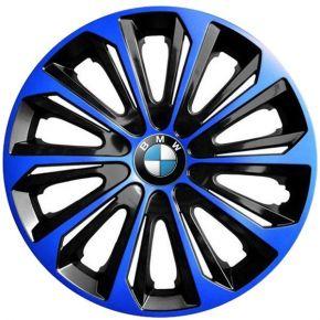 "Tapacubos para BMW 15"", STRONG DUOCOLOR NEGRO-AZUL 4 pzs"