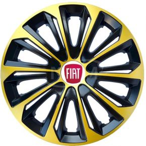 "Puklice pre FIAT 16"", STRONG EXTRA zlaté 4ks"