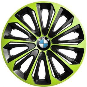 "Tapacubos para BMW 15"", STRONG DUOCOLOR VERDE-BLANCO 4 pzs"