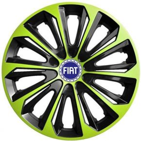 "Tapacubos para FIAT BLUE  15"", STRONG DUOCOLOR VERDE-BLANCO 4 pzs"