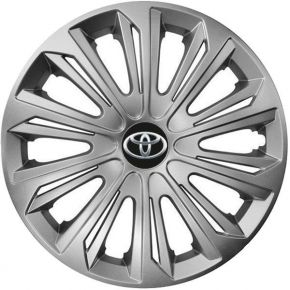 "Tapacubos para TOYOTA 16"", STRONG GRIS 4 pzs"