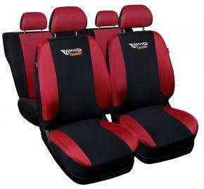 Fundas de asiento universales TUNING rojo