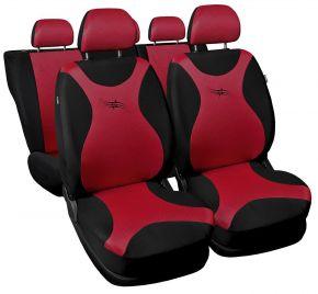 Fundas de asiento universales TURBO rojo