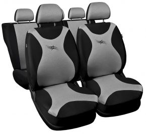 Fundas de asiento universales TURBO gris